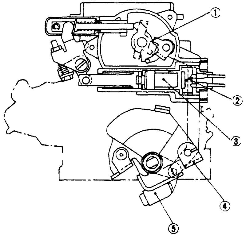 Схема полуавтоматической воздушной заслонки