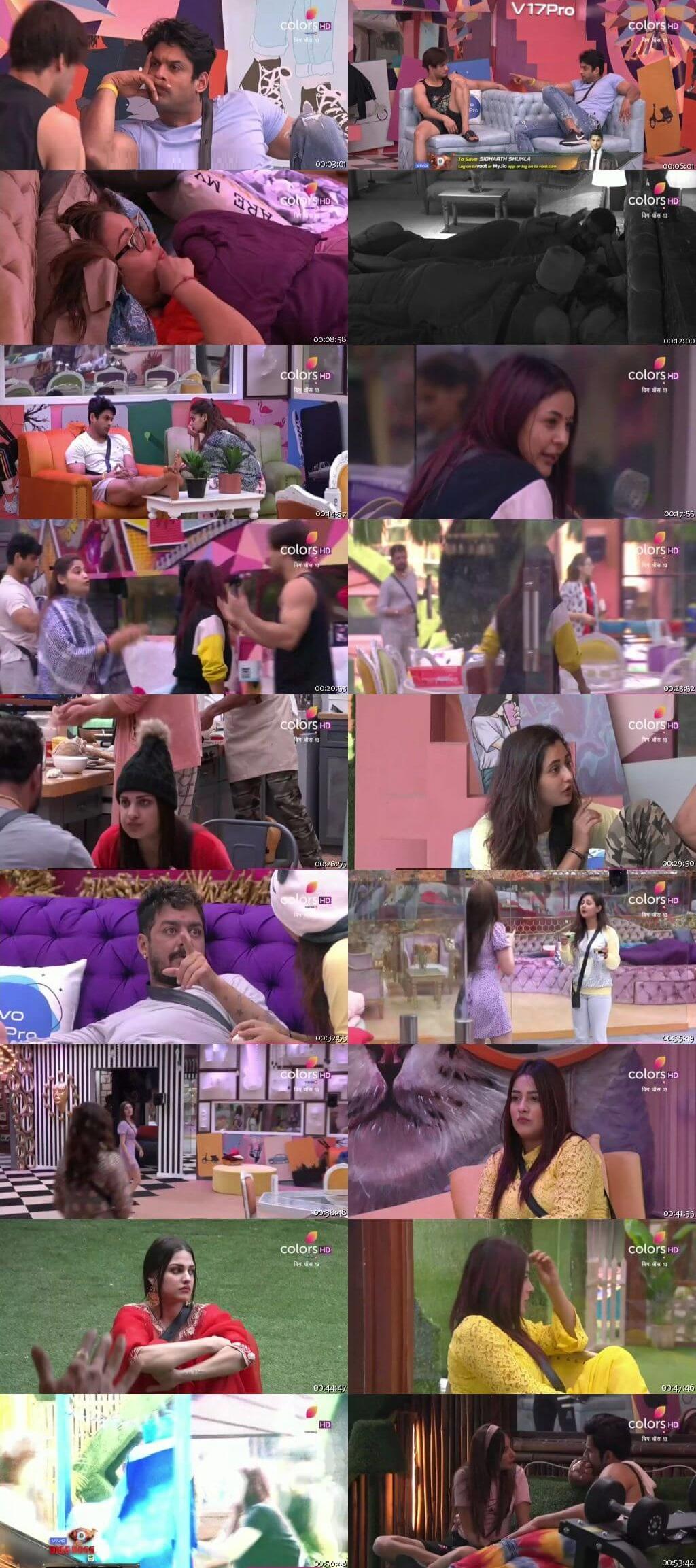 Screenshots Of Hindi Show Bigg Boss 13 14th November 2019 Episode 45 300MB 480P HD