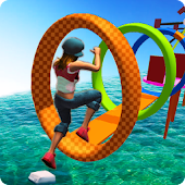 Water Park Games: Stunt Man Run 2018 Android APK Download Free By Zact Studio Games