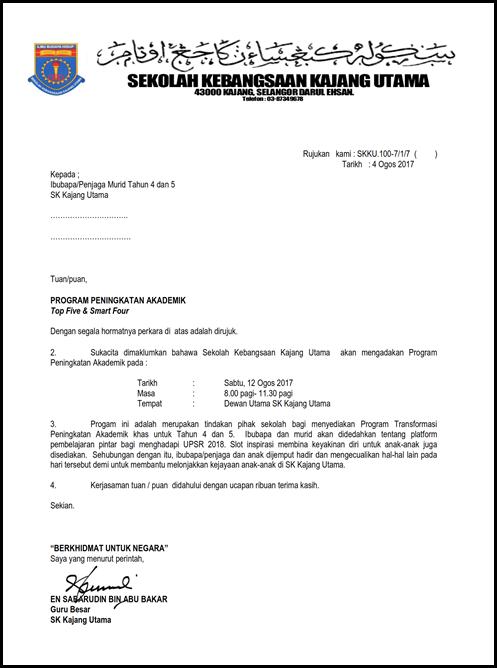 call letter makluman ibubapaT45_001