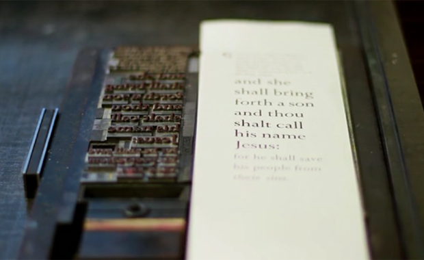 Upside Down, Left To Right: A Letterpress Film by Danny Cooke