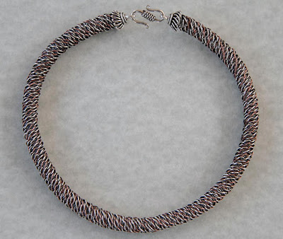 Braided Wire Necklace by Lisa Van Herik