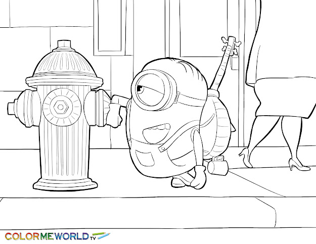 Minions Coloring Pages Free Printable Minions Pdf Coloring