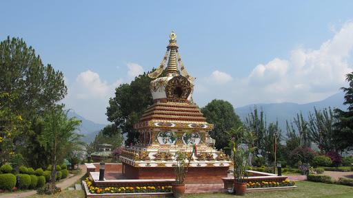 Lama Lhundrup's stupa, Kopan Monastery, Nepal.