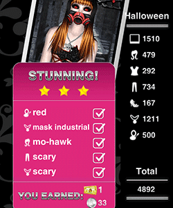 Style Me Girl Level 18 - Halloween - Penelope - Stunning! Three Stars