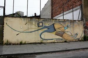 Arte callejero en Podgórze, el gueto judío de Cracovia