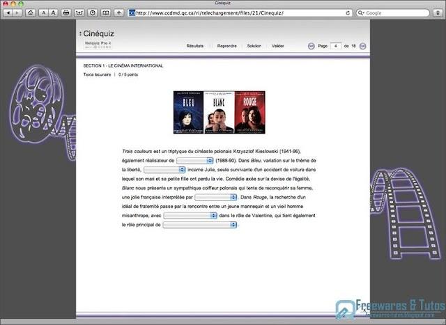 Netquiz Pro 4 : un logiciel gratuit pour créer facilement des quiz