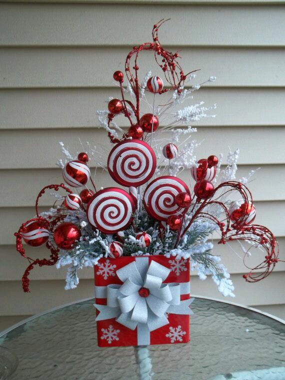 C mo hacer decoraciones de caramelos navide os con for Adornos de oficina para navidad