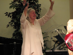 Momma Templet, enjoying God's presence.