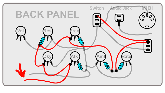 DIY Synth build guide panel connections 10
