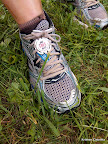 Shoe tag, post race.