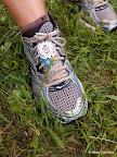 Shoe tag, post race.