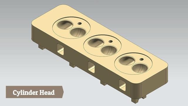 Engine Cylinder Head--Siemens Nx Tutorial