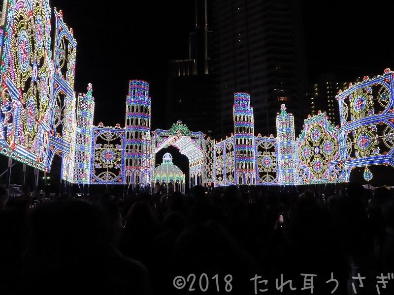 ルミナリエ2018の点灯の瞬間(点灯式)に行ったのでレビュー 口コミ PayPay in 神戸