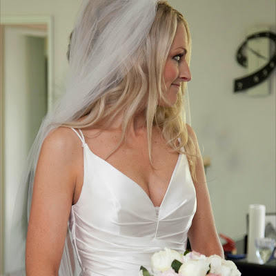 Tonya - Silk satin draped gown