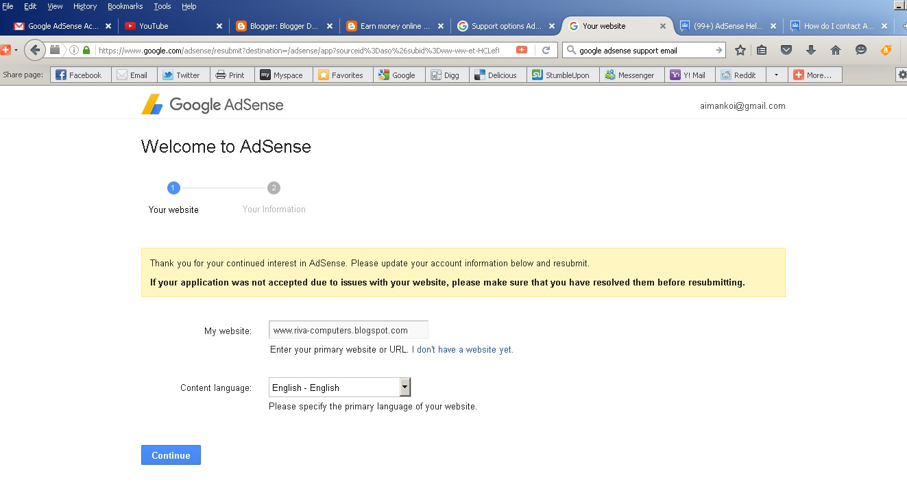 Can not login in my adsense home page - AdSense Help