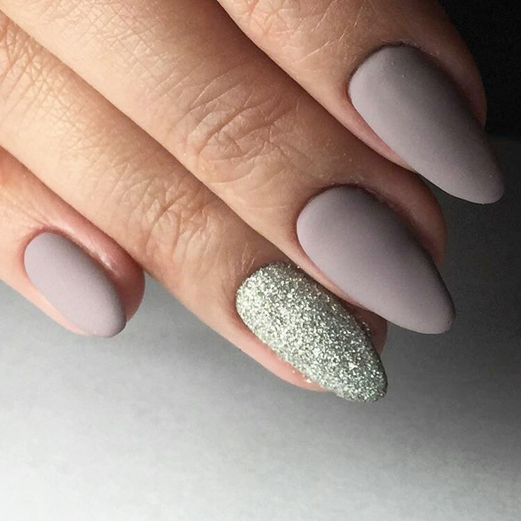 Long And Short Matte Nails
