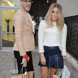 WWW.ENTSIMAGES.COM -   Olivia Cox and Lewis-Duncan Weedon   arriving at    Cherry Edit - launch party at Cafe KaiZen, London October 1st 2014New fashion website, which features monthly flash accessories sales, marks its launch.                                                 Photo Mobis Photos/OIC 0203 174 1069