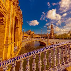 plaza españa, Sevilla by -. Phœnix .- - City,  Street & Park  Vistas ( plaza españa, sevilla )