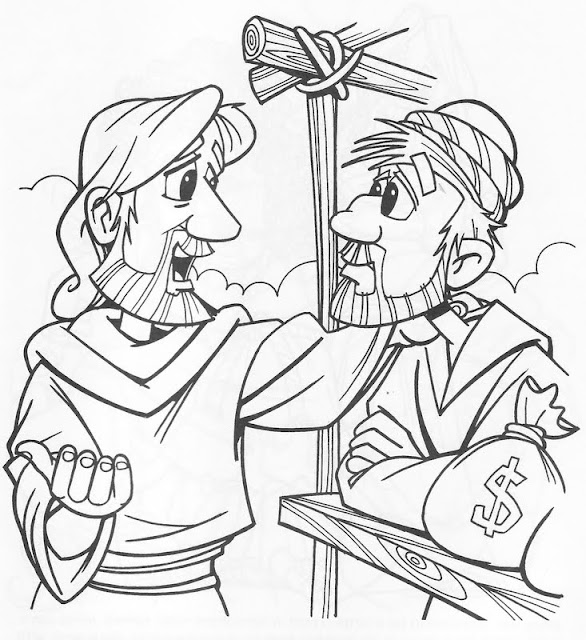 Jesús Invita a Mateo a Seguirlo para colorear