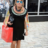 WWW.ENTSIMAGES.COM -   Lady Nadia Essex    at    LFW - Somerset House Courtyard September 13th 2014                                               Photo Mobis Photos/OIC 0203 174 1069