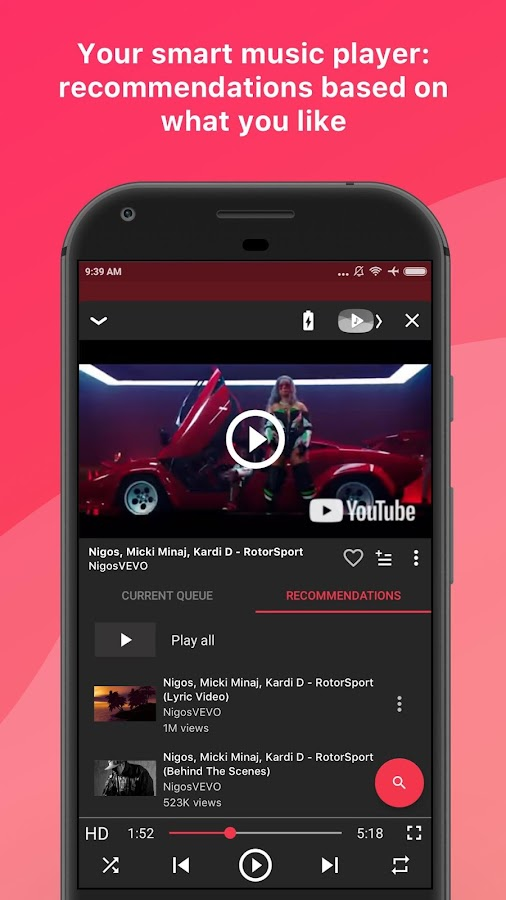 Screenshots of Free music for YouTube: Stream for iPhone