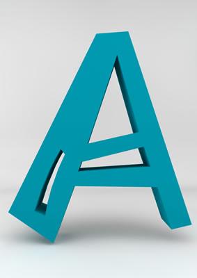 lettre 3D homme joker turquoise - A - images libres de droit