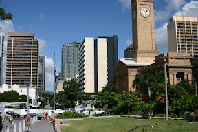 Brisbane City Hall and Central Business District
