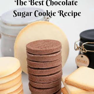 Chocolate Sugar Cookies .