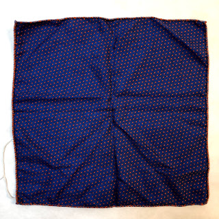 Saks Fifth Avenue Dotted 2-Sided Pocket Square