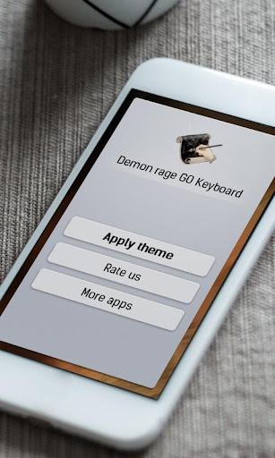 玩免費個人化APP|下載恶魔愤怒 GO Keyboard app不用錢|硬是要APP