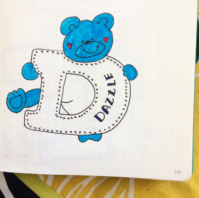 #100DaysOfDoodles | Day 28 | What is your favorite word starting with Letter D? | The 100 Day Project