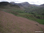 Steep, but easy descent to the western side of Catbells