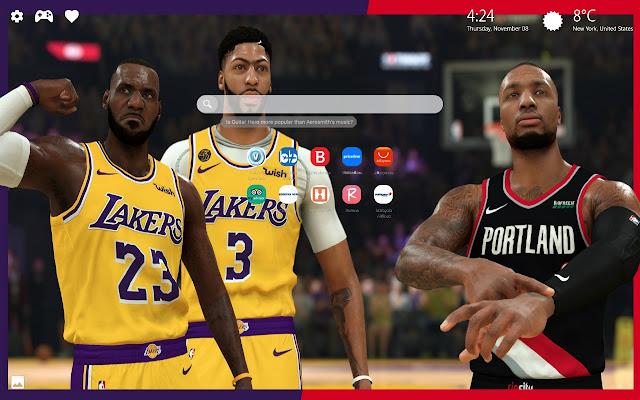 NBA 2K20 Wallpapers New Tab