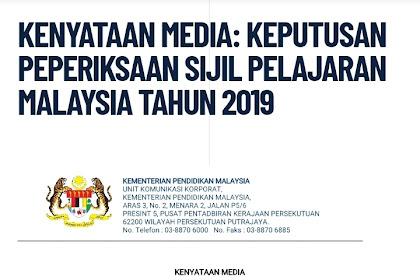 Keputusan SPM 2019 Diumumkan Pada 5 Mac 2020