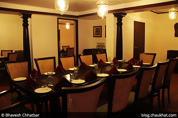 Group seating arrangement at Savya Rasa [Koregaon Park, Pune]