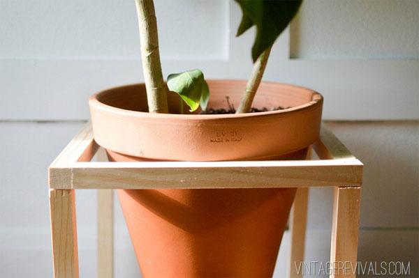 Cómo hacer una base para plantas.