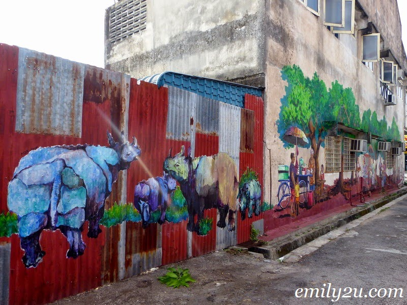 75ft x 15ft giant wall mural in pasir pinji ipoh from