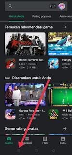 Tombol recent apps
