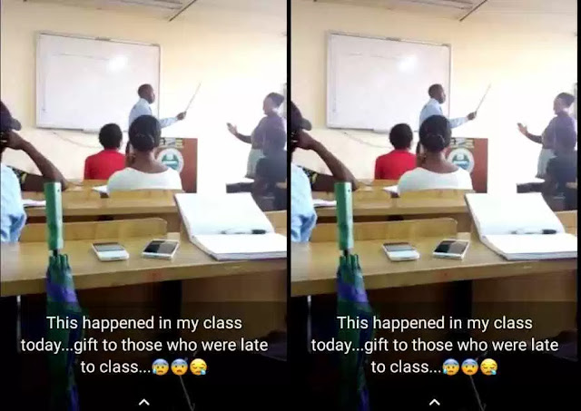 UNILAG Professor Flogs Student For Coming Late To His Class