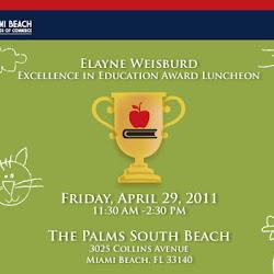 Elayne Weisburd Excellence in Education Award Luncheon