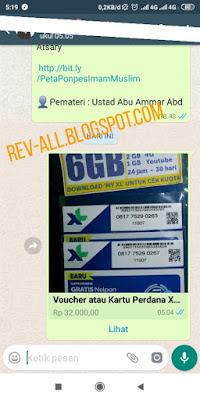 contoh produk dalam katalog yang ditambahkan dalam chat