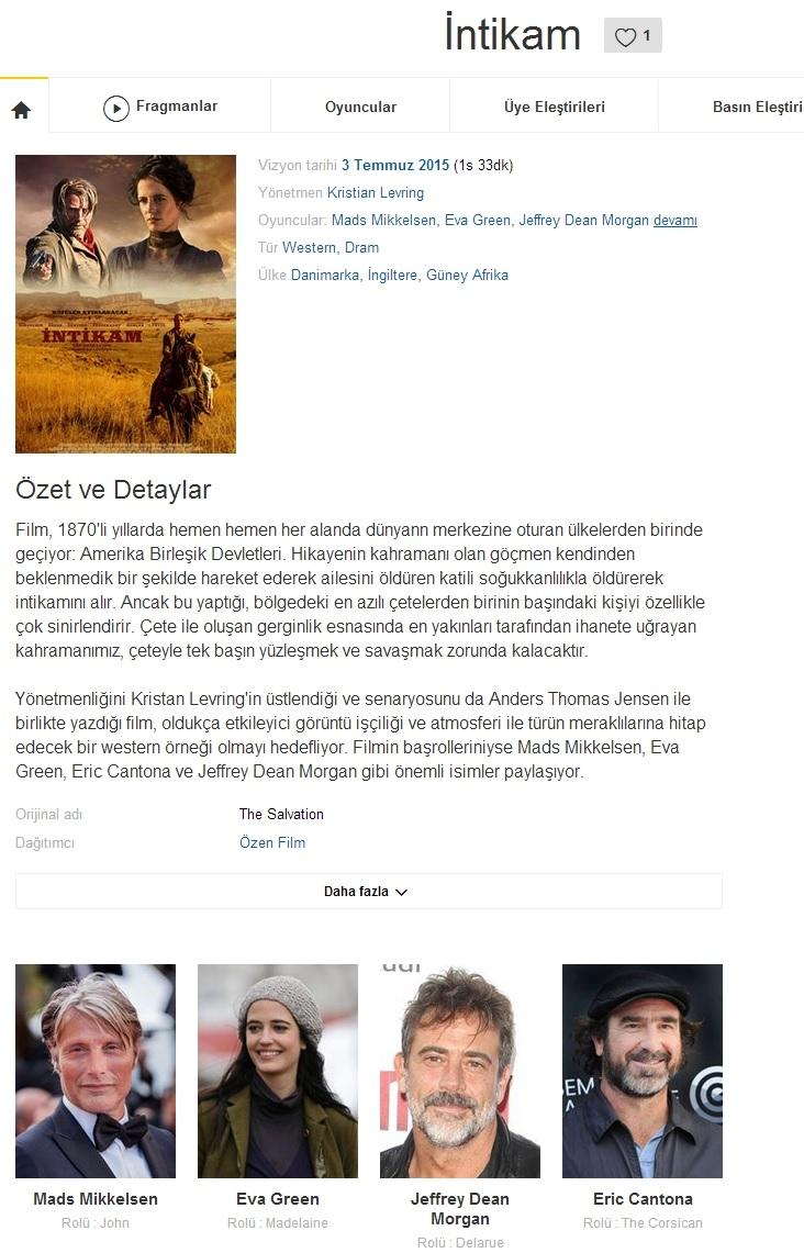 İntikam 2014 - 1080p 720p 480p - Türkçe Dublaj Tek Link indir