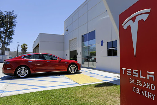A Tesla sales and service centre in Costa Mesa, California, is pictured in June 2018. Picture: REUTERS
