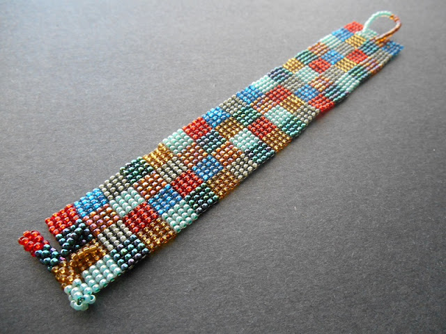 How to Weave a Square Stitch Cuff