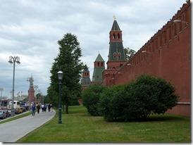 Kremlin mur le long de la moscova
