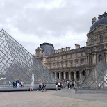 le louvre is always busy in Paris, Paris - Ile-de-France, France