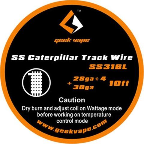 geekvape caterpillar track ss316l thumb%25255B2%25255D - 【海外】「GeekVape Peerless RDA」「GeekVapeコイル半額セール」「シリコンスリーブケース SMOK AL85」「Eleaf iJust S 3000mAh新色」