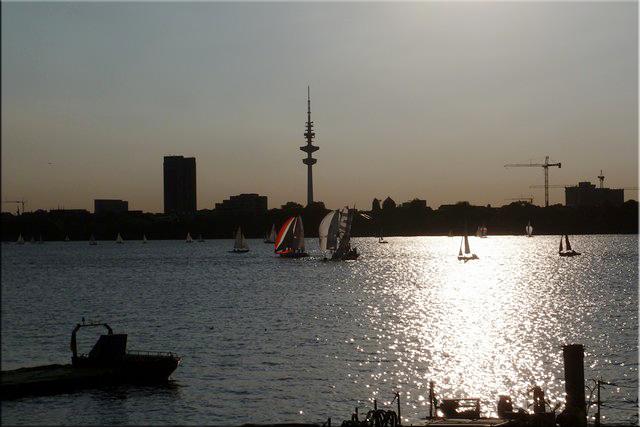 Aussenalster, el lago grande de Hamburgo