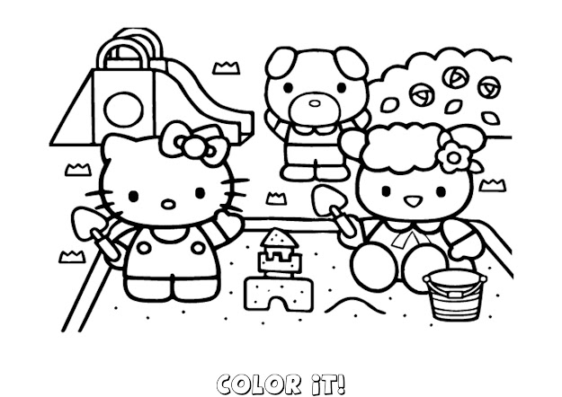 Cool Hello Kitty Coloring Pages Online Free Printable For Kids